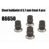 Steel Balljoint Front 5.7mm 4pc